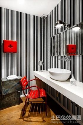 80平米小户型卫生间壁纸装修效果图