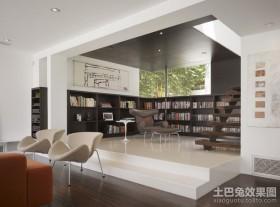 复式楼装修效果图 书房装修效果图2012