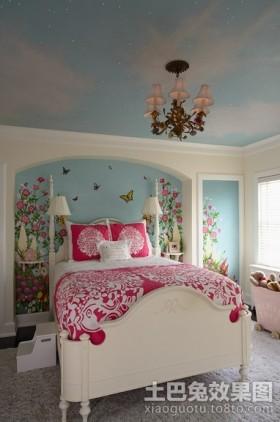 两室两厅装修效果图田园卧室背景墙