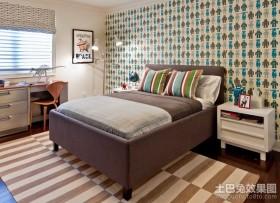 60平米小户型效果图现代田园风卧室装修效果图