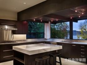 别墅装修风格开放式厨房装修效果图