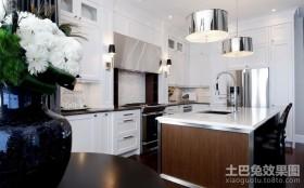 两室一厅白色厨房装修效果图