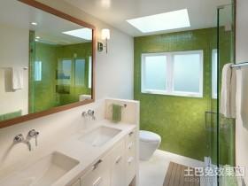 绿色卫生间装修瓷砖