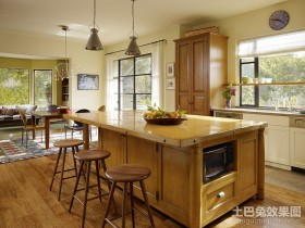 美式厨房装修图片