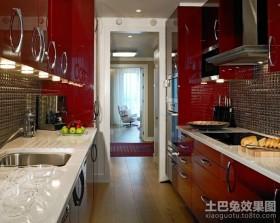 现代厨房整体橱柜装修图