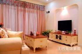 40平米小户型客厅电视背景墙装修效果图