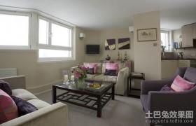 90平米二居室客厅装修效果图