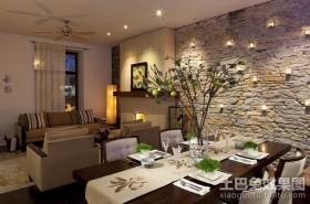 欧美田园风格装修餐厅