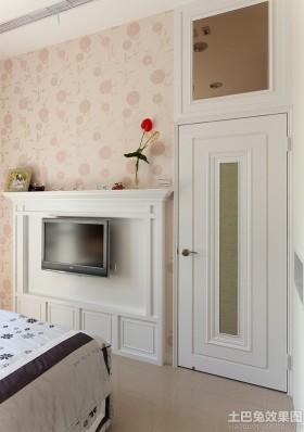 现代简约风格装修卧室墙纸背景墙图片