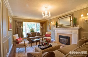 美式田园风格设计客厅图片