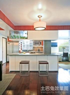 二室二厅开放式厨房装修效果图