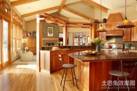 田园风格家居装修效果图 开放式厨房装修效果图