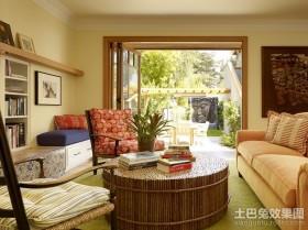 田园风格装修图片 2012小客厅装修效果图