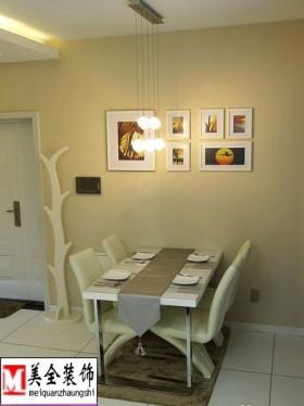 简约风格小餐厅照片墙效果图