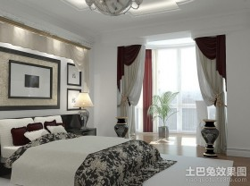 70平米小户型卧室样板间设计图片