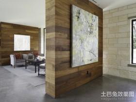 美式客厅隔断装修效果图