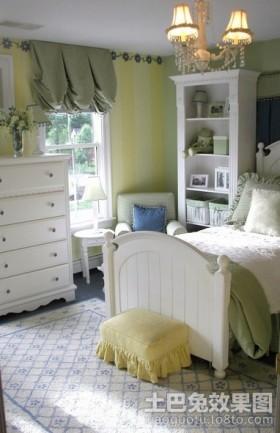 卧室储物柜欧式女生卧室装修设计图