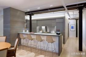 开放式厨房吧台设计效果图欣赏