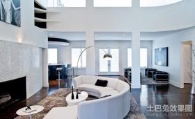 简约风格别墅客厅装修效果图大全2013图片