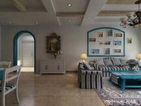 地中海风格客厅玄关装修效果图 2012客厅玄关效果图