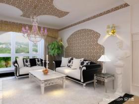 现代简约70平米小户型客厅沙发背景墙装修效果图