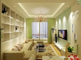 田园风格70平米小户型装修图片 小户型客厅装修效果图