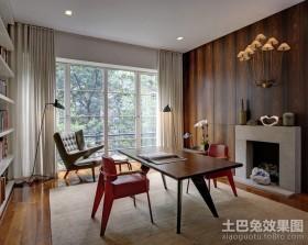 现代简约三室两厅书房装修效果图大全2012图片
