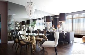 现代风格客厅餐厅一体吊顶装修效果图