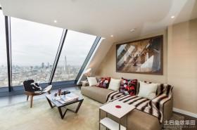 两室一厅90平装修阁楼小客厅效果图