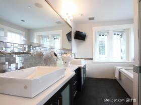 90平米两室一厅卫生间装修图效果图