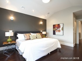 90平米两室一厅卧室装修图效果图