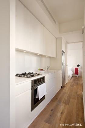 40平米白色小户型厨房装修效果图