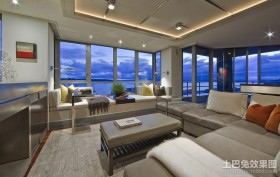 后现代风格家具客厅装修设计图片