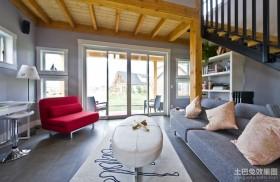 现代简约风格复式家居装修 复式客厅装修图片