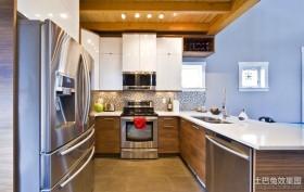 复式家居厨房整体橱柜装修