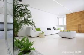 极简主义风格120平米三室两厅装修效果图