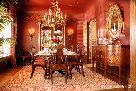 华丽富贵的餐厅装修效果图