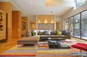 2012长方形客厅装修效果现代风格