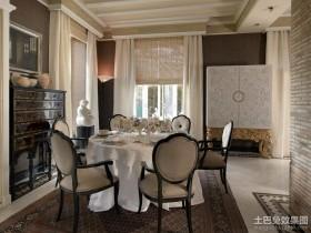古典欧式风格餐厅吊顶图片