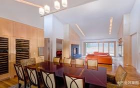 2012最新别墅装修 客厅餐厅装修效果图