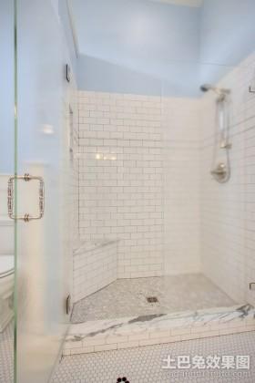卫生间透明玻璃门装修效果图