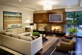 简约风格装修客厅电视背景墙装修效果图
