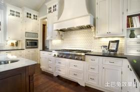 白色厨房橱柜装修效果图大全2012图片