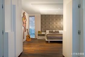 现代简约装修风格卧室过道效果图