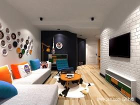60平小户型现代风格客厅装修效果图