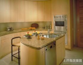 田园风格装修厨房整体橱柜图片