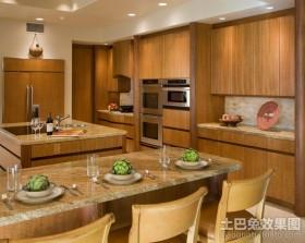 田园乡村风格装修厨房整体橱柜图片
