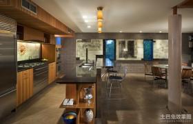 美式风格样板间厨房整体橱柜效果图