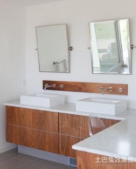 现代洗手间装修效果图