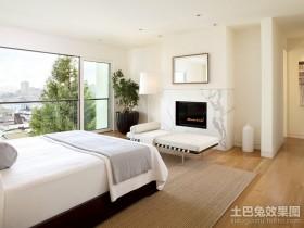 白色现代简约风格卧室装修效果图